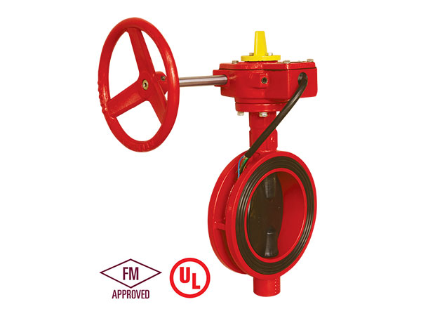 Fire fighting FM/UL/ULC Standard 300PSI Butterfly Valve  fire protection Wafer type