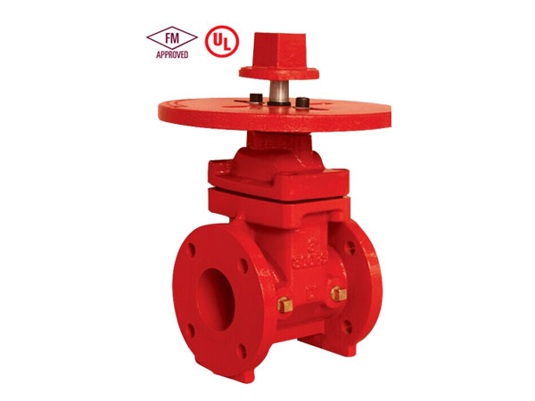 Fire fighting FM/UL/ULC Standard 300PSI Gate Valve fire protection NRS Non-Rising stem  Flanged End