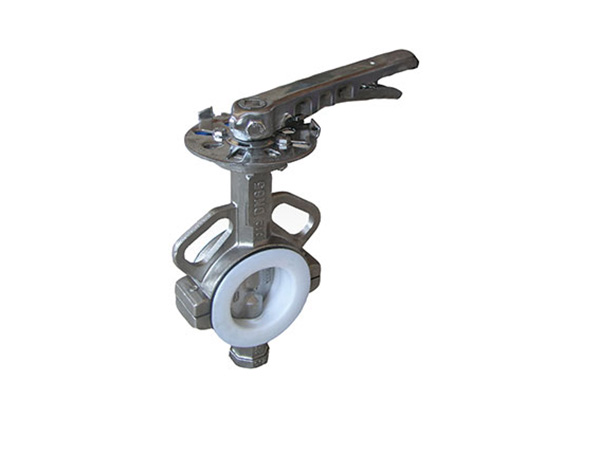 PTFE division butterfly valve