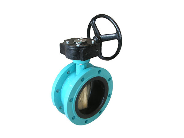 Center line double flange butterfly valve