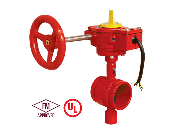 Fire fighting FM/UL/ULC Standard 300PSI Butterfly Valve  fire protection Grooved type